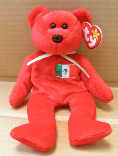 TY Beanie Babies Osito the Mexican Bear Stuffed Animal Plush Toy - 8 inches tall