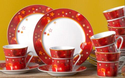 Purato Save Weihnachtsgeschirr Kaffeeservice 18 Tlg