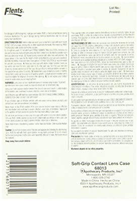 Flents By Apothecary Products, Inc. Flents Soft Grip Lens Case (Pack of 6)