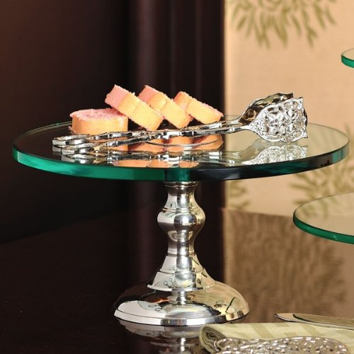 Elvy Pastry stand in glass and nickle