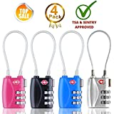 HT Luggage Locks Combination Password Locks Padlocks TSA Approved 3-Digit 4-Pack (Four Color)