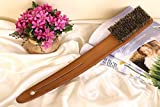 KINGLAKE New Arrival Log Color Long Bath Brush Shower Back Brush with Natural Boar Bristles, Approx 17.7-Inch Exfoliating Body Brush