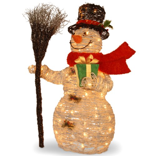 Outdoor light up snowman holiday dcor season charm inflatable snowman outdoor decor 4 feetcheck price national mozeypictures Choice Image