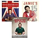 Jamie's Oliver 3 books collection(Jamie's 15 minute meals, Jamie's Great Britain, Jamie's Ministry of Food) Jamie Oliver