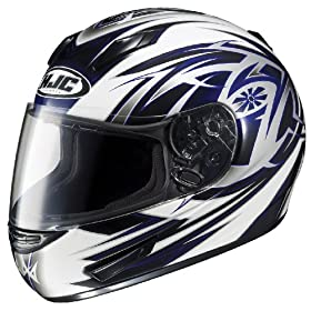 HJC CL-15 Cyclone MC-2 Full Face Motorcycle Helmet White/Blue/Black Medium