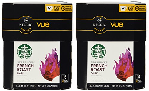 32 Count - Starbucks French Roast Coffee Vue Cup For Keurig Vue Brewers (Vue Starbucks French Roast compare prices)