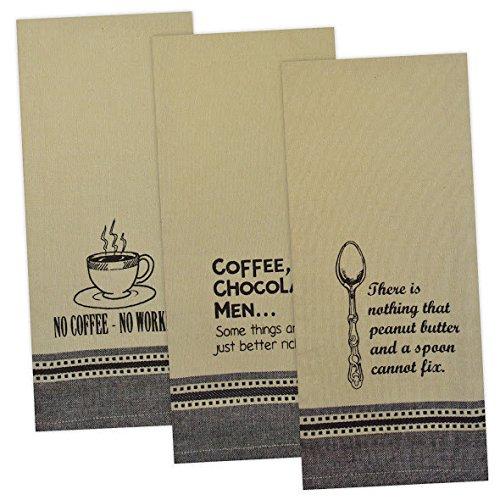 Printed Kitchen Towels-Sweet Indulgence set of 3
