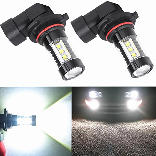 Alla Lighting Extremely Super Bright High Power 80W CREE H10 9145 White LED Lights Bulbs for Fog Light Lamps Replacement (Fog Light Bulbs Dodge Charger compare prices)