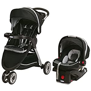 Graco Fastaction Fold Sport Stroller Click Connect Travel System, Gotham 2015
