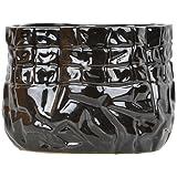 Panchanan Interior Ceramic Vase (12.954 Cm X 9.906 Cm, Black)