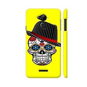 Colorpur Hipster Modern Skull On Yellow Designer Mobile Phone Case Back Cover For Coolpad Note 3 / Note 3 Plus | Artist: WonderfulDreamPicture