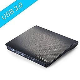 COOLEAD USB3.0 8X Slim DVD+/-RW Slim USB External Drive