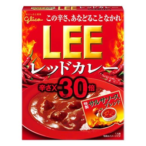 江崎グリコ LEE レッドカレー 辛さ×30倍 2015年版 200g×10食