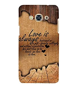 Beautiful Love Quote 3D Hard Polycarbonate Designer Back Case Cover for Samsung Galaxy J3 Pro