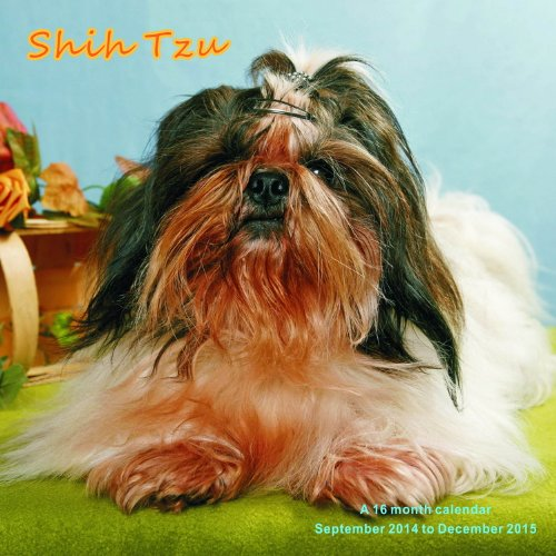 Shih Tzu Calendar - 2015 Wall calendars - Dog Calendars - Monthly Wall Calendar by Magnum