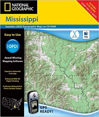 National Geographic Mississippi: Seamless Usgs Topographic Maps