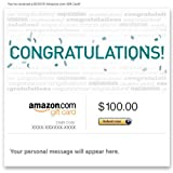 Amazon Gift Card - E-mail - Congratulations (Typography)