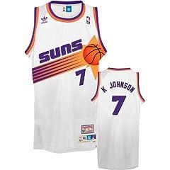 NBA adidas Kevin Johnson Phoenix Suns #7 Throwback Swingman Basketball Jersey - White by adidas