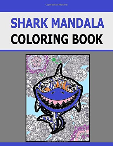Shark Mandala Coloring Book