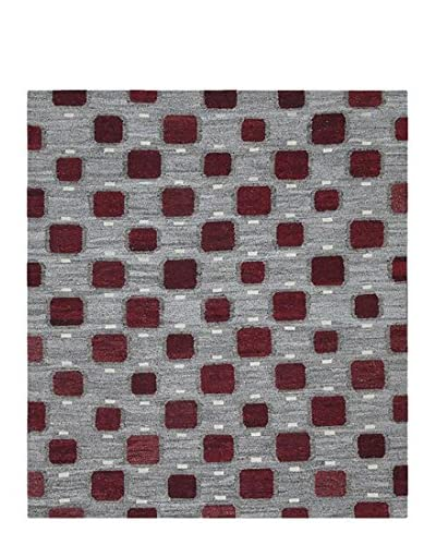 nuLOOM One-of-a-Kind Quin Hand-Knotted One-of-a-Kind Rug, Gray, 8' 4 x 10' 9