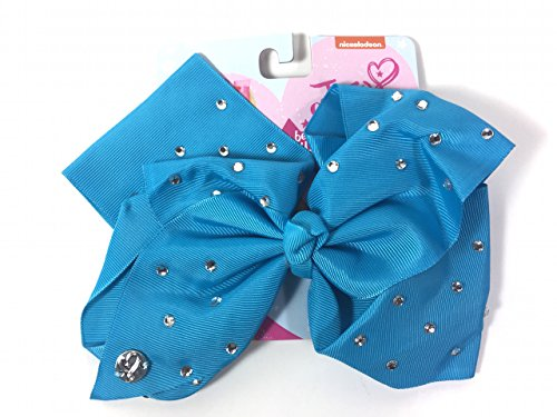 JoJo Siwa Signature Collection HAIR BOW Teal Blue w/Rhinestones