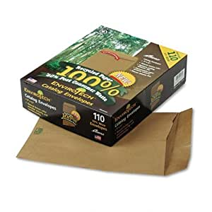 Ampad Envirotec 100% Recycled Catalog Envelope, 9X12 Inches, Natural Brown, 110 Envelopes Per Box (19706)