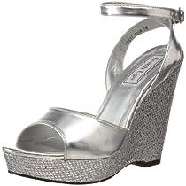 Big Sale Touch Ups Women's Viviana Platform Sandal,Silver,10 M US