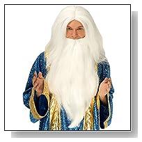 White Wizard Wig & Beard