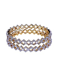 Gehna Beautifully Crafted Pair Of Bangles Studded With American Diamond