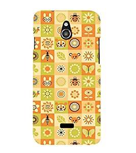 Fuson Premium Printed Hard Plastic Back Case Cover for Infocus M2