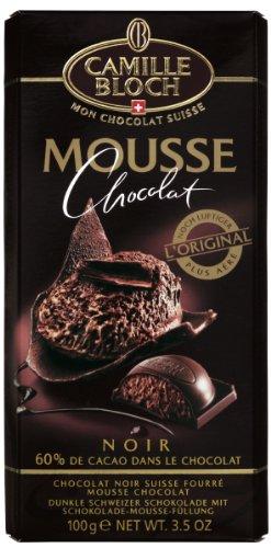 Chocolat noir fourre mousse au chocolat CAMILLE BLOCH, 100g