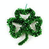 St. Patricks Day Tinsel Shamrock Wall Decoration