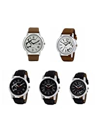 Oura Analog Round Formal Official Wear Watch For Men Combo Of 5pc