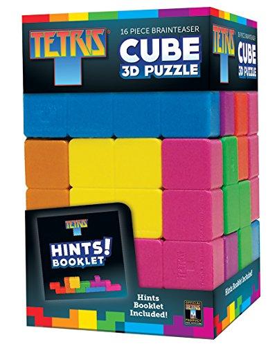 Masterpieces Tetris Cube Brainteaser Puzzle (16-Piece) - 1