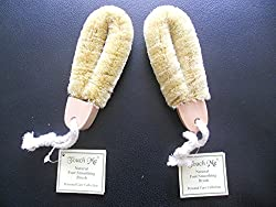 Touch Me Hard Texture Natural Foot Smoothing Brush For Dry or Wet Use, 2 pack