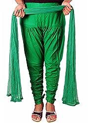 Tinnu G Women's Cotton Churidar and Dupatta Set (TGDP1302_Light Green_Free Size)