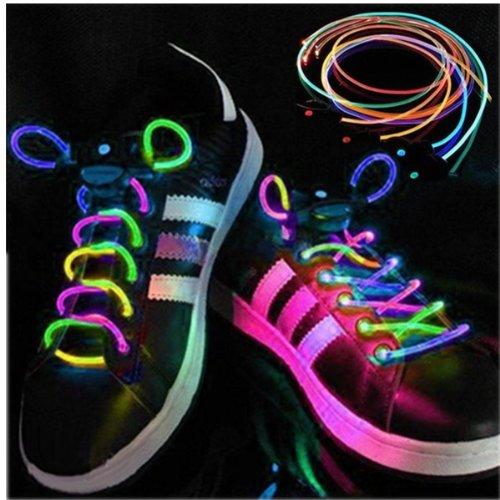 Agptek® 2 Pack Battery Powered Led Light Up Waterproof Shoelaces - 3 Modes (On, Strobe & Flashing), 2 Feet Long