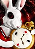 Canvas print 70 x 100 cm: Follow the White Rabbit by Gabriela Wendt - ready-to-hang wall picture, stretched on canvas frame, printed image on pure canvas fabric, canvas print