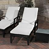 Sonnenliegen-Set Costa mit Sitzauflagen Farbe (Gestell): Schwarz