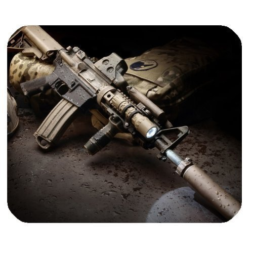 Generic Art Design Army Gun Sniper Rifle Weapons for Rectangle Mouse Pad Gaming Mousepad (Army Mouse Pad compare prices)