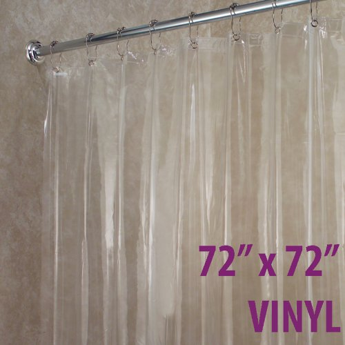 interdesign 72 inch by 72 inch vinyl shower curtain liner