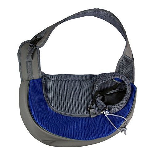 Lifeunion Lightweight Pet Dog Cat Sling Carrier Bag for Travel Outdoor Walking, Safe to Carry Your Puppy Dog Kitty Rabbit Cross Shoulder Bag (S, Royal Blue)
