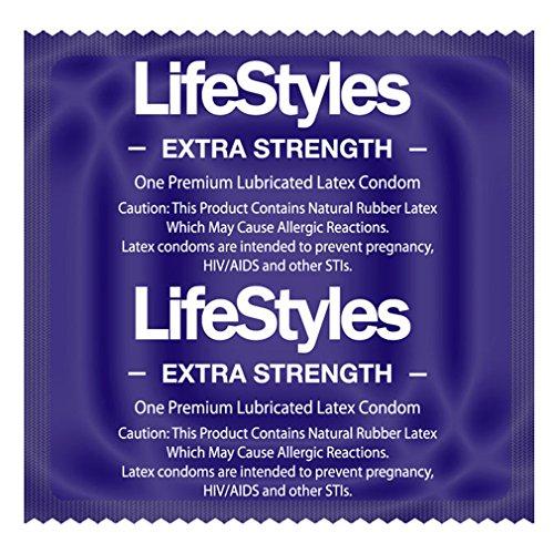 LifeStyles EXTRA STRENGTH Condoms - 12 condoms (Condom Strength Extra compare prices)