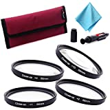 XCSOURCE 4PCS 58MM Close-Up Macro Filter Set (+1 +2 +4 +10) with Pouch +Lens Cleaning Pen + Cleaning Close For Canon Nikon DSLR Camera LF450