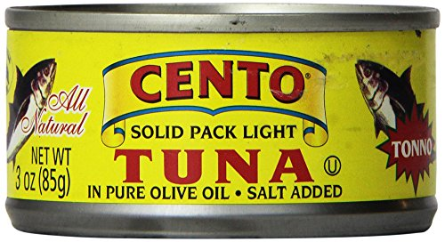 Cento Solid Packed, Light Tuna, In Olive Oil, 3-Ounce Cans (Pack Of 24)