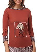 IAN MOSH Camiseta Manga Larga Valnera (Granate)