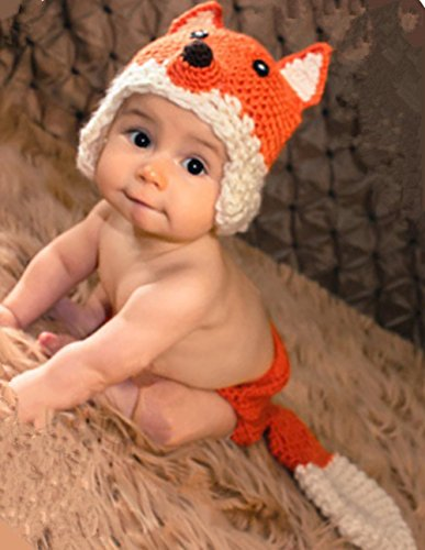 Fashion Unisex Newborn Boy Girl Baby Outfits Photography Props Fox Modeling