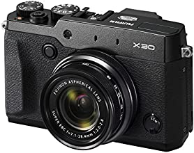 """Fujifilm X30 Appareil compact numérique Expert Wifi à Zoom Manuel 4x 28-112 mm F/2-2,8 - 12 Mp X-Trans II (2/3"""") AF à Détection de Phase Viseur Electronique """"Temps Réel"""" Ecran 3'' 920Kp Inclinable Noir"""