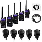 5 Pack Baofeng UV-5RTP Tri-Power 8/4/1W Two-Way Radio Transc