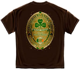 Irish Firefighter T-shirt Irish Pride Extra Stout-large